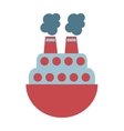 ship boat toy kids vector image