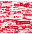 EVENTS vector image vector image