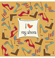 shoes background vector image