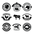 BBQ labels vector image