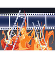 films in fire vector image vector image