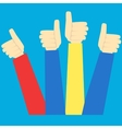 Hands in thumbs up sign vector image