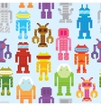 Retro robots seamless pattern vector image vector image