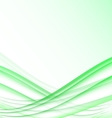 Green and white waves modern futuristic abstract vector image