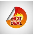hot deals design vector image