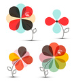 Abstract Flowers Set vector image vector image