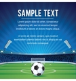 Abstract Sport Soccer Background with Copy Space vector image