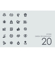 Set of green technology icons vector image
