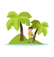Travel on Tropics Concept vector image vector image