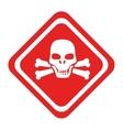 danger caution advert icon vector image
