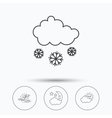 Weather mist and snow icons vector image