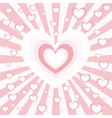 heart burst vector image vector image
