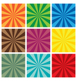 set of Sun Sunburst retro Pattern vector image