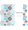 Cute blue seamless floral background vector image