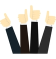 Hands in thumbs up sign vector image vector image
