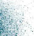 Blue light Ink paint splatter on white background vector image