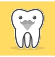 Wisdom tooth with a gray beard and mustache vector image