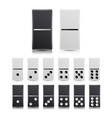 domino set black and white vector image