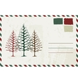 Envelope with christmas sketch and place for your vector image