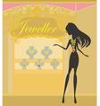 Girl and jewellerys vector image