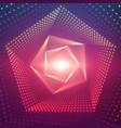 infinite pentagonal twisted tunnel vector image