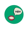 Lips with speak bubble vector image