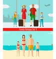 People with kids traveling on vacation Summer vector image
