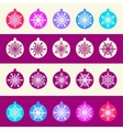 Seamless Pattern from Set of Christmas Balls with vector image