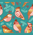 seamless pattern with decorative birds and vector image