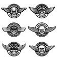 set of biker club emblems templates emblems with vector image