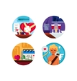 Valentine Day set of icons vector image