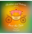 wedding retro carriage with curls over vector image