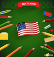 Welcome back to school with American Flag vector image