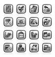 Taxes business and finance icons vector image