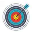 Arrow in archery target vector image