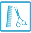 blue sign of barbershop vector image vector image