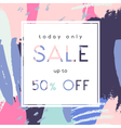 Hand Drawn Sale Poster Design vector image