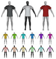 plain shirt on mannequin torso template vector image vector image