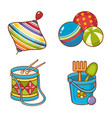 childrens toy ornament kid cute set vector image