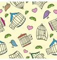 Birds and bird cages vector image