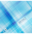 Blue checked pattern vector image vector image