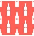 beer bottles seamless pattern in modern vector image