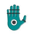 bionic hand artificial intelligence related icon vector image