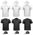 Black and white men shirt and cup Design template vector image