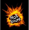 Hot tours Concept with fire vector image