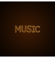 Music neon sign vector image