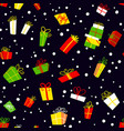 seamless pattern with gift boxes background with vector image