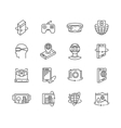 Virtual reality technologies icon set vector image