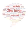 Zika fever outbreak vector image