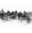 Panama City skyline in black watercolor on white vector image